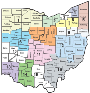 Ohio SST map