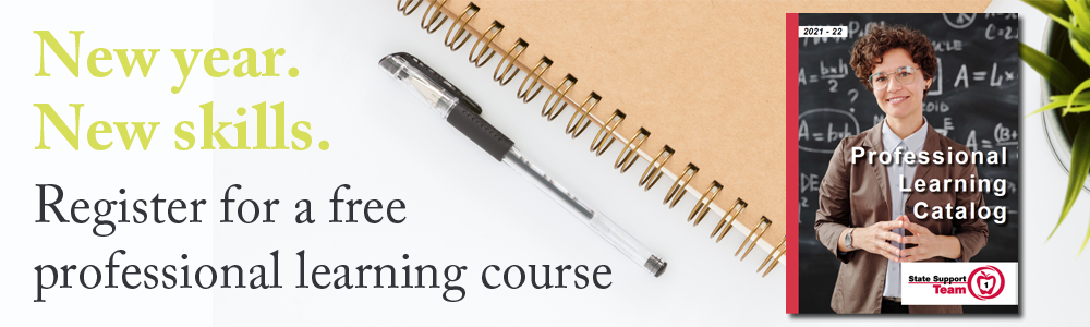 register for a free professional learning course