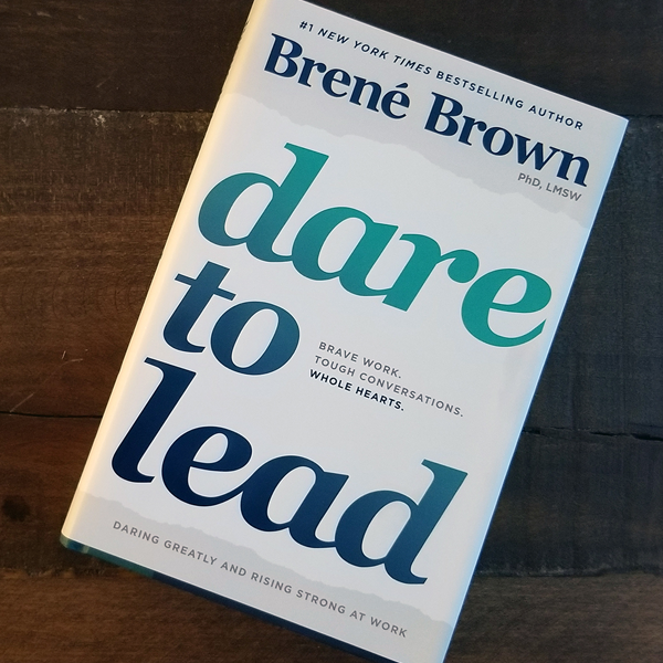 picture of book, dare to lead by brene brown