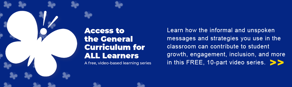 ensuring access to the general curriculum for all learners